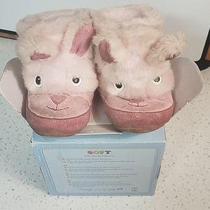 Robeez pink bunny pre Walker booties